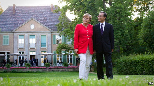 Angela Merkel's soft China stance is challenged at home