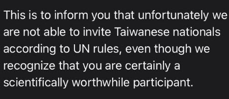 Taiwanese banned from all UNESCO events