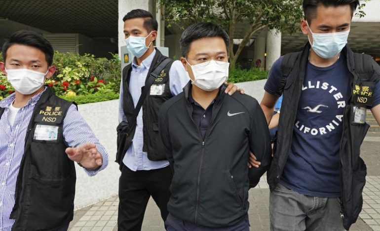 Editors of Hong Kong newspaper arrested under security law
