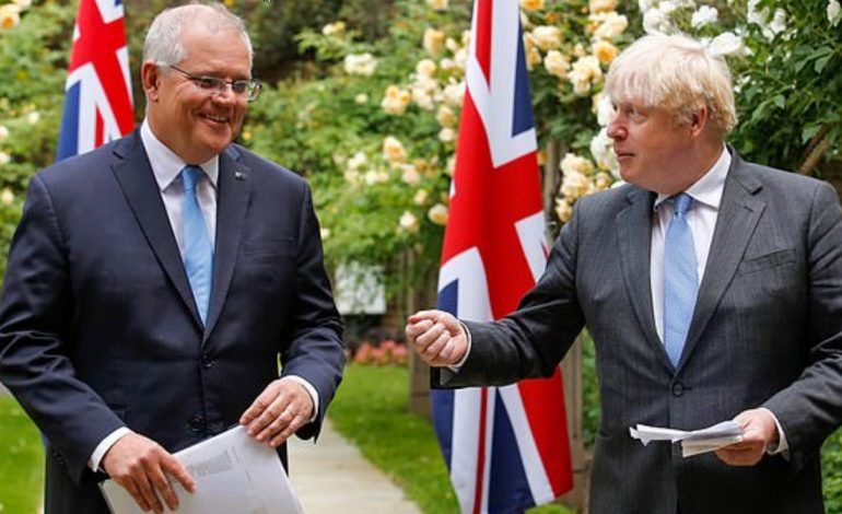 Britain vows to stand 'shoulder to shoulder with our Australian friends' against Chinese aggression