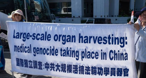 Rally to support persecuted Falun Gong outside Dáil
